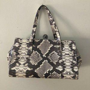 Alberta Di Canio Stecca Snake Leather Handbag